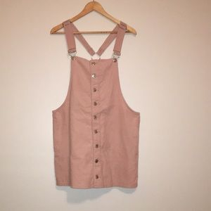 Blush Pink Overall Dress, Pinafore